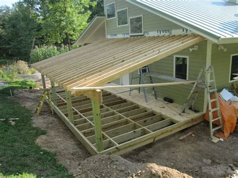 Adding Shed Roof Deck - brainright shed addition sheds with character