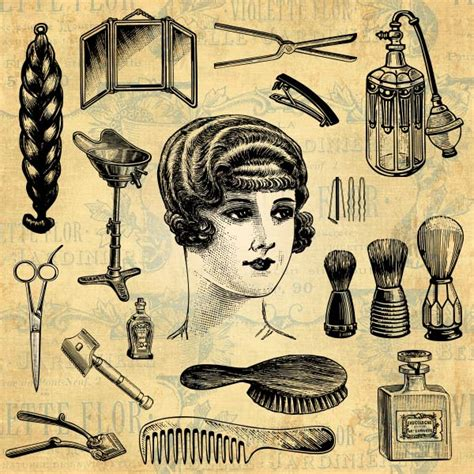 Hair Style Tools Name Farm by Vintage Pictures Qygjxz