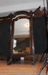 Mahogany Dining Room Furniture Antique Hand Carved French Cheval Mirror Mirrors Mahogany