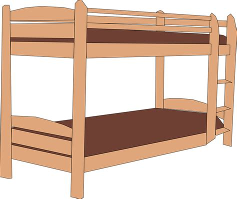 bunk bed images free vector graphic bunk bed stack wooden brown free