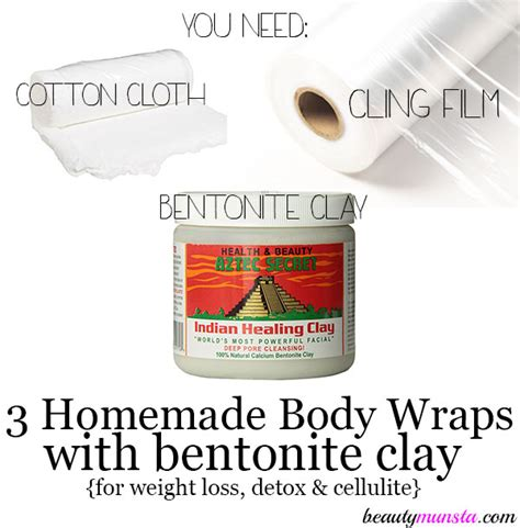 Bentonite Clay Detox Wrap Recipe wraps with bentonite clay beautymunsta