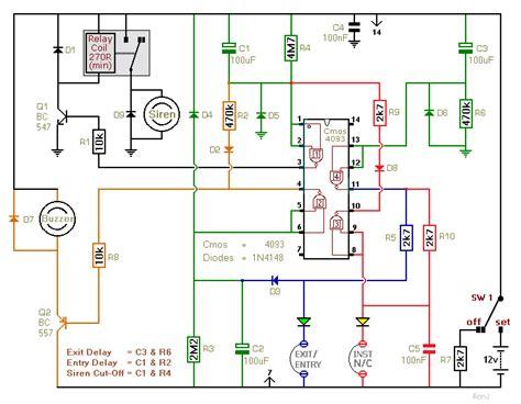 burglar alarm burglar alarm circuit diagram