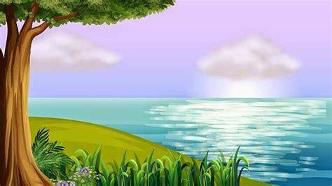wallpaper pemandangan cartoon vector  blog teraktual