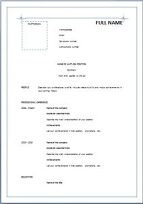 simple resume format pdf 1000 images about resume career termplate free on resume exles sle resume