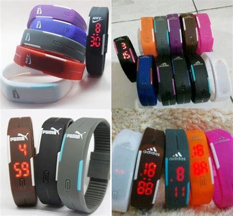 Gelang Led Pumanikeadidas jual jam tangan gelang led adidas nike sporty digital rubber grosirtoys