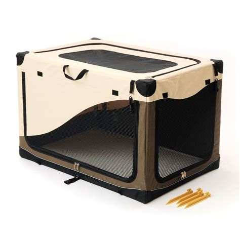 portable crates petco home and travel portable canvas crate 24 quot l x 18 quot w x 17 quot h for pets up to 25