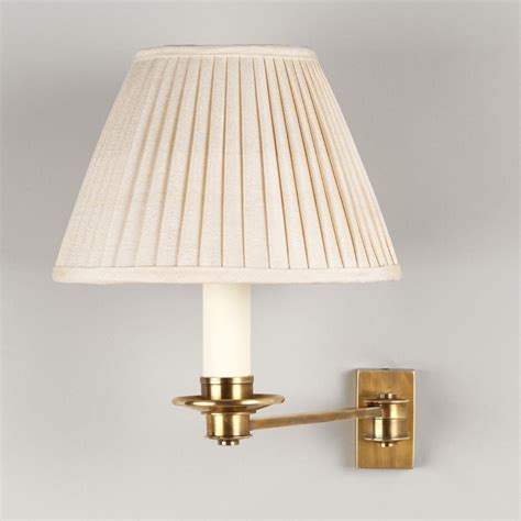 empire pleated l shades library swing arm wall light 1 arm products