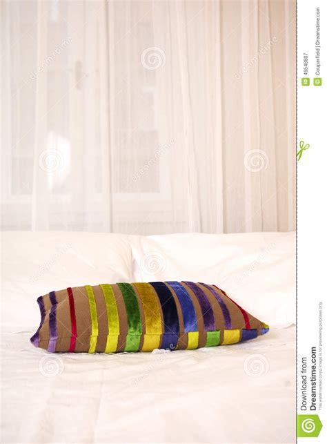 colored pillows colored pillow on the bed stock photo image 49548807