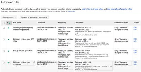 save time with google adwords automated bidding rules