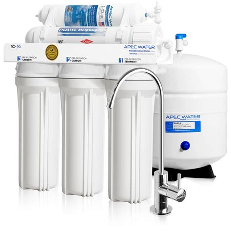 under sink reverse osmosis water filter apec water systems ultimate premium quality wqa certified