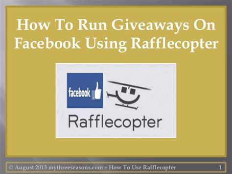 how to run giveaways on facebook using rafflecopter - How To Run Giveaways On Facebook