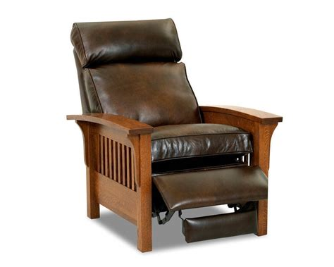 mission style leather recliner cl misson leather recliner