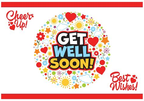 get well soon card template free get well soon cards vector free free vector