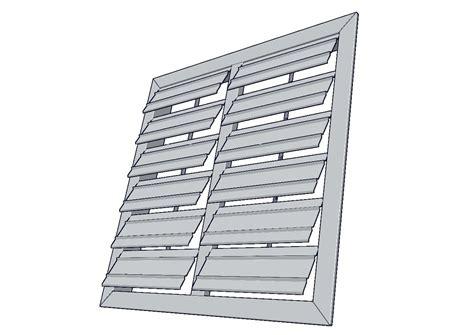 mecanismo persiana persiana de gravedad per ventiladores industriales