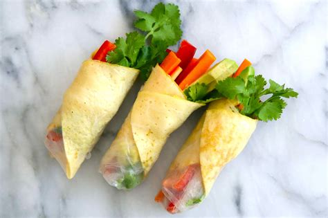 Rice Paper Rolls - egg and vege rice paper rolls the brown paper bag