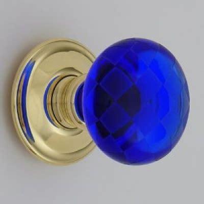 Blue Glass Door Knob Door Knob Cobalt