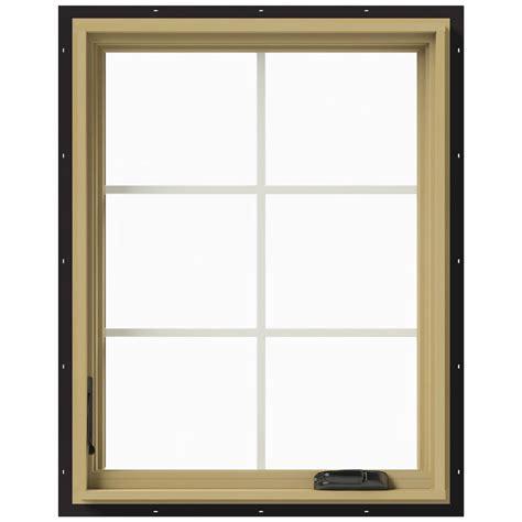 Jeld Wen Aluminum Clad Wood Windows Decor Jeld Wen 28 In X 36 In W 2500 Left Casement Aluminum Clad Wood Window Thdjw140100389