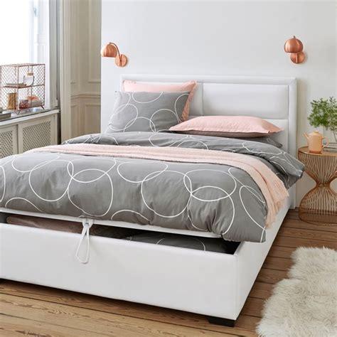 lit coffre avec sommier relevable blax pas cher la redoute