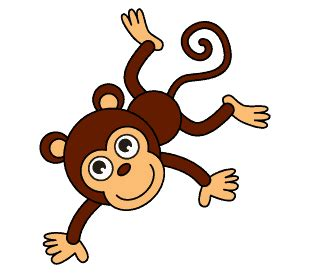 how to draw a swinging monkey how to draw a cartoon monkey in a few easy steps easy
