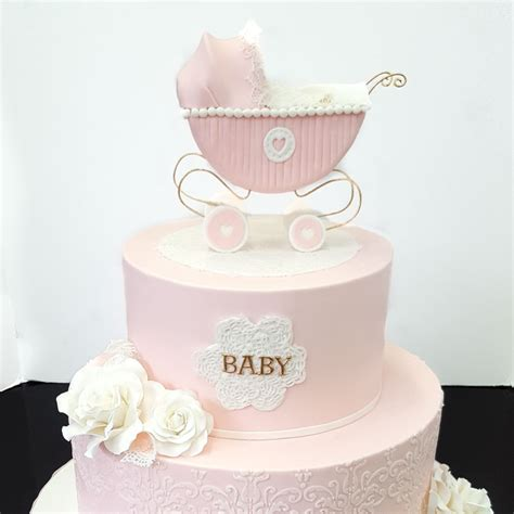 Baby Shower 2 Tier Cakes by Baby Shower Cakes Patisserie Tillemont