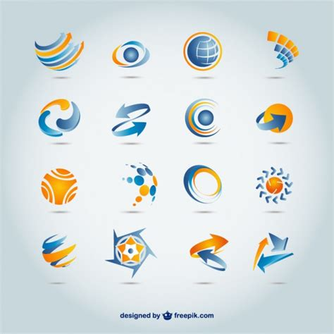 vector design logo free download set of 300 free logo templates