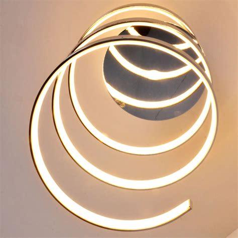 led 16 watt ceiling light chrome l light spiral luxury