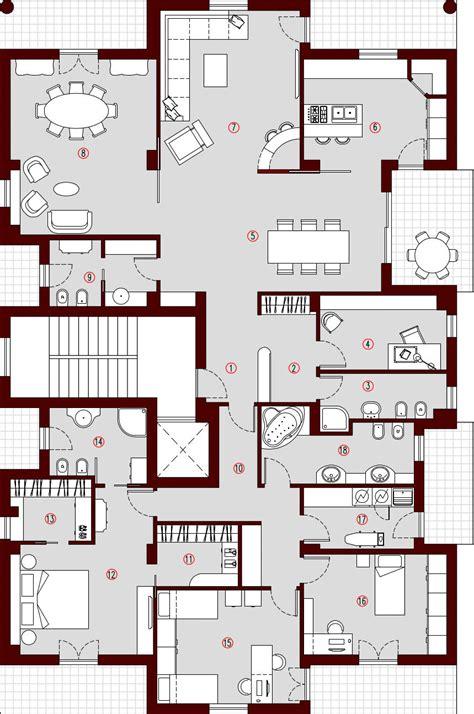 planimetria appartamento 250mq planimetria arredata architettura a domicilio 174