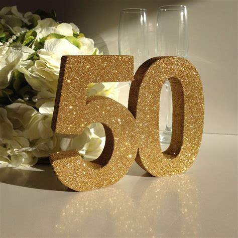 Gold 50th birthday party decoration 50th anniversary