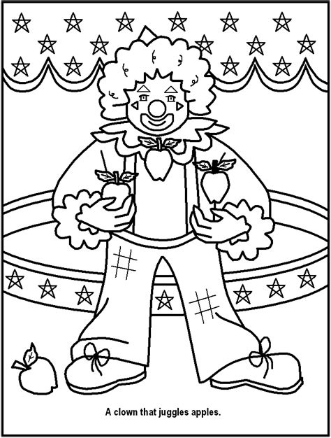 free printable circus coloring pages great for kids