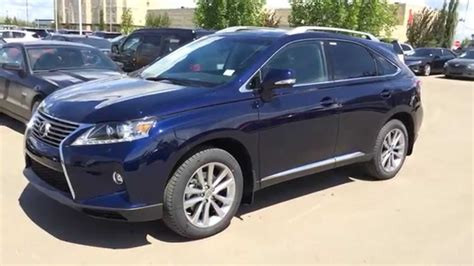 lexus rx 350 blue 2015 lexus rx 350 awd touring package review blue on