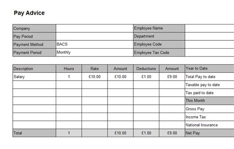 editable payslip template 6 payslip templates word excel pdf templates