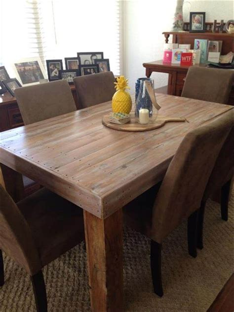 Pallet Dining Table Diy Diy Custom Built Pallet Dining Table Ideas