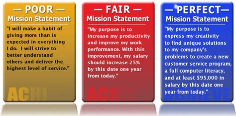 mission statement mission statements create your own create your and layout
