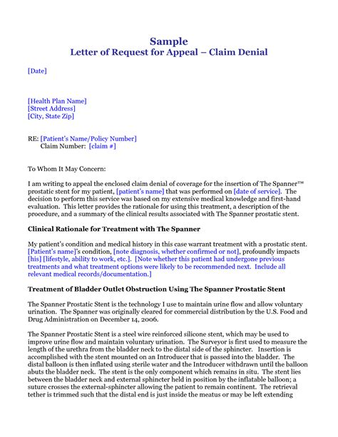 best photos of medical claim appeal letter medical