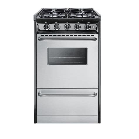 summit appliance 20 in 2 46 cu ft slide in gas range in