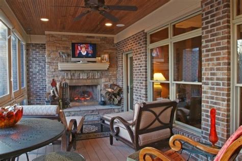 Porch Fireplace by 13 Outdoor And Porch Fireplaces Four Season Porch