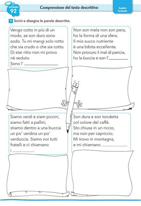 comprensione testo esercizi oltre 25 fantastiche idee su comprensione della lettura su