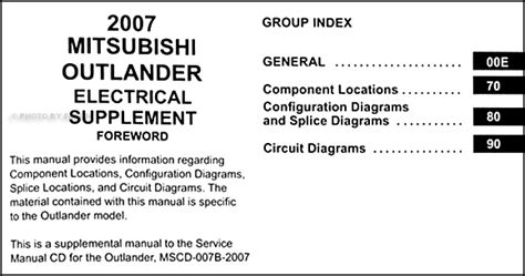 2008 mitsubishi outlander wiring diagram wiring diagram