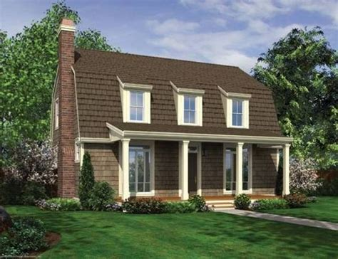gambrel house plans no 329112 gambrel roof with dormers and front porch