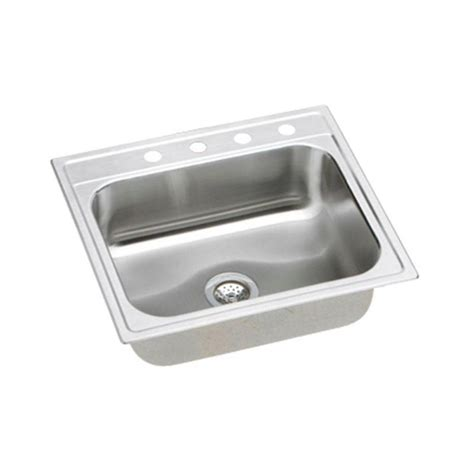 Kitchen Sinks Brands Elkay Signature Top Mount Stainless Steel 25 In 4 Single Bowl Kitchen Sink Name