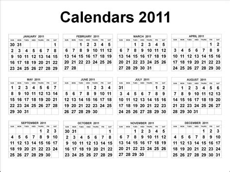 printable yearly calendar on one page 2011 yearly calendar printable one page search results