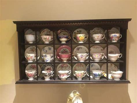 tea cup display rack oak bay