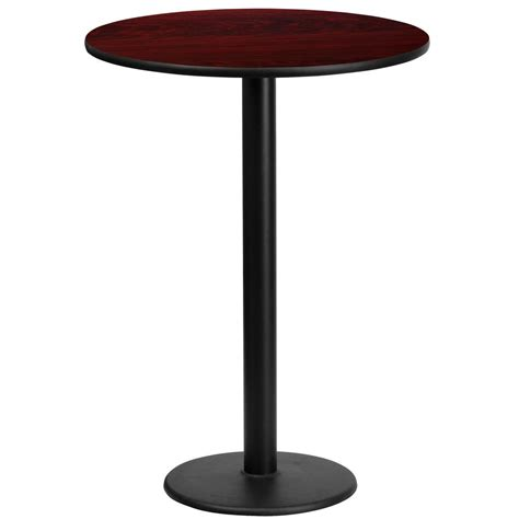 round bar top table flash furniture 24 round mahogany laminate table top