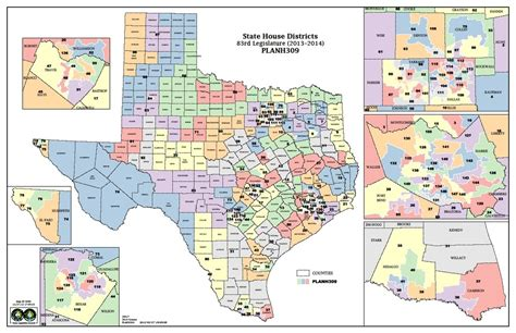 texas state house district map congressional districts texas map images