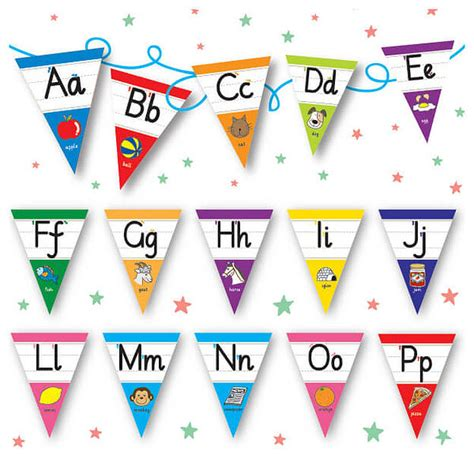 printable letters bunting pedagogs alphabet bunting a z flags