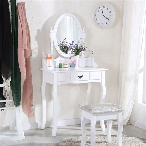 Second Dressing Table With Mirror And Stool by Mirror Table Desk Cosmetic Makeup Stand Vanity Make Up
