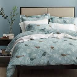 Brushed Cotton Duvet Cover Birds Of A Feather 5 Oz Flannel Duvet Cover The Company