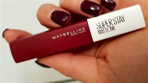 Toner Maybelline maybelline stay matte ink likid ruju deniyorum 箘lk izlenim