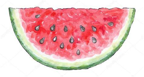 Marinka Set watercolor painting of a set of fruit watermelon stock