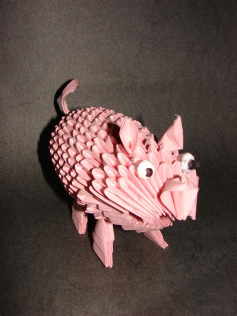 origami 3d pig tutorial pig album alan 3d origami art